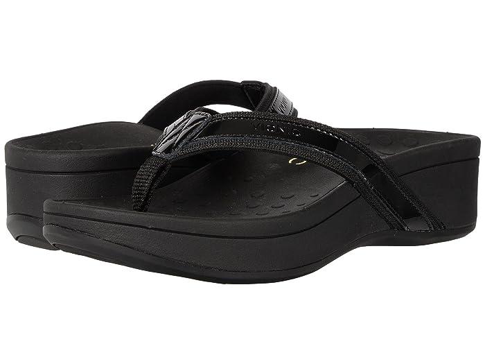VIONIC  High Tide (Black Patent Leather) Womens Sandals