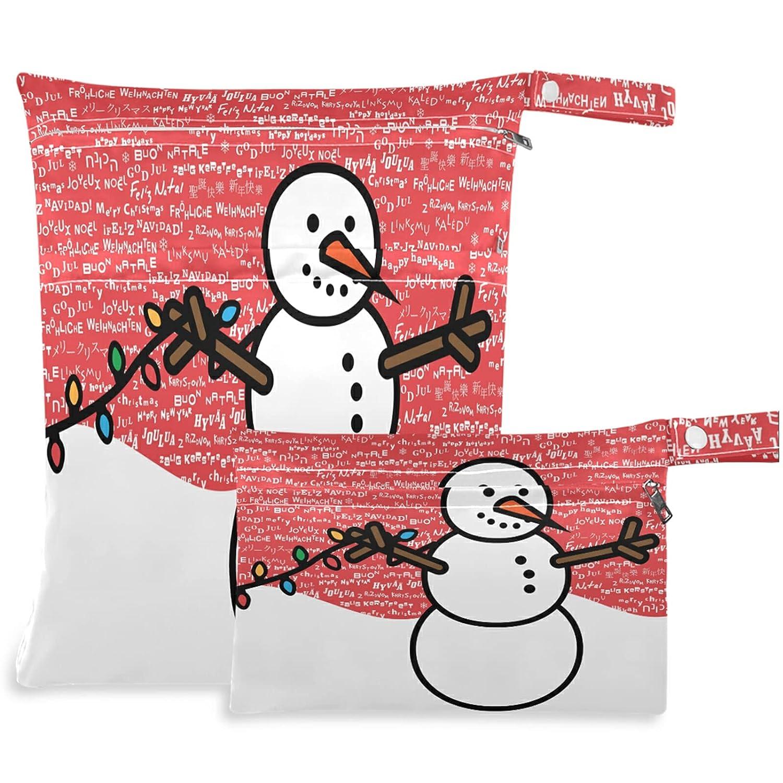 visesunny Merry OFFer Christmas New sales Snowman 2Pcs Letter Wet Multi-Lingual
