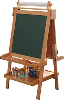 """KidKraft Deluxe Wood Easel-Natural, 48"""""""" x 24"""""""" x 25.5"""""""""""" (62005)"""