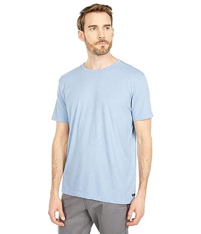 RVCA Solo Label Short Sleeve T-Shirt (Ash Blue) Men