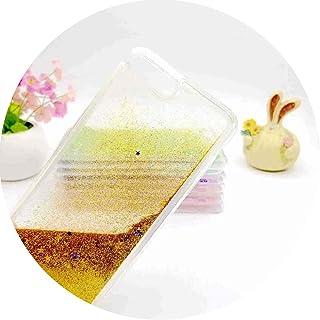 Liquid Glitter Bling funda para transparente case for iPhone,Gold,iPhone X max,