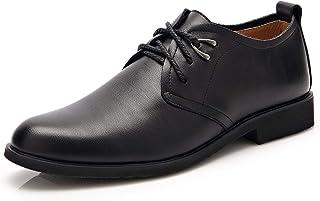OZYSZSSZBESAN الكلاسيكية أوكسفورد الرسمية للرجال الدانتيل يصل الأحذية فو الجلود منخفضة أعلى إيقاع تو منخفض كعب مكدسة أطول ...