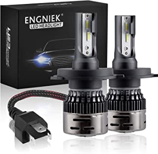 H4 LED Headlight Bulbs 9003 High Low beam Headlamp Pure White Bright All In One Conversion Kit 40W 9800Lm 6000K, 2 Pack