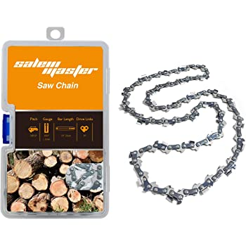 """SALEM MASTER 16 Inch Chainsaw Chains - .050"""" Gauge - 3/8 LP Pitch - 56 Drive Links, Semi-Chisel Gas Powered Chainsaw Chain Fits for Craftsman, Echo, Homelite, Poulan, Remington (16)"""
