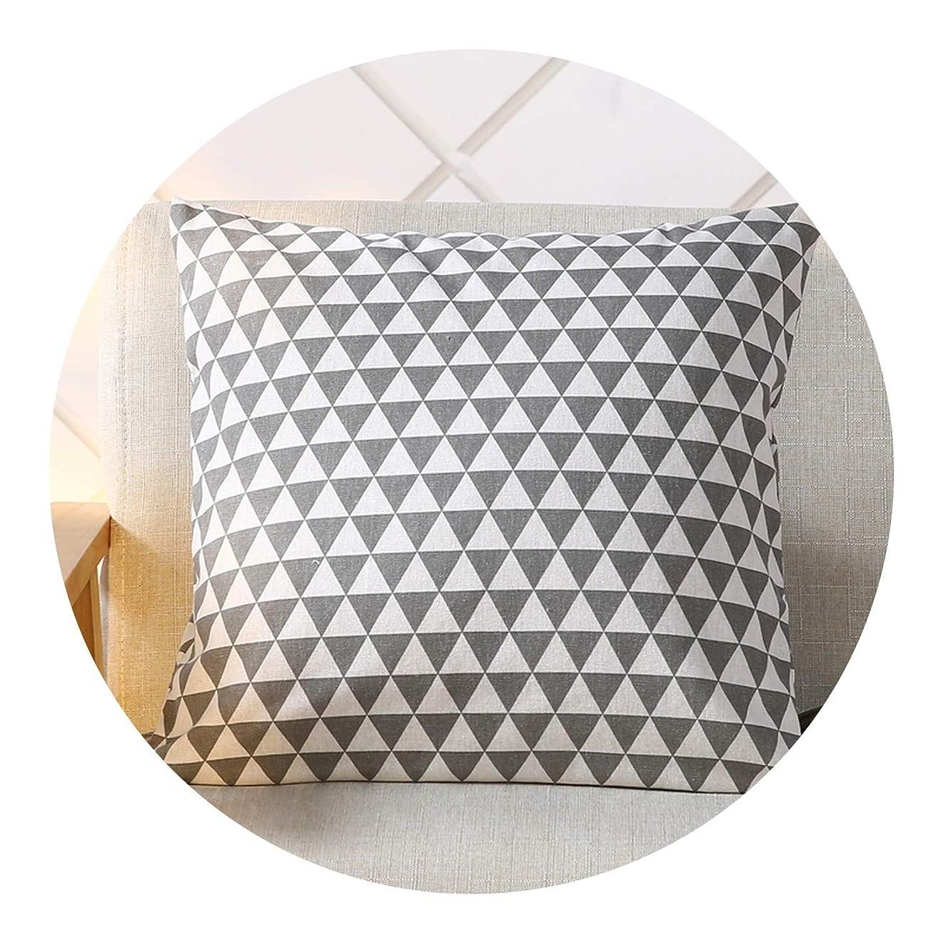 ご注意手数料トレイ心地いい抱き枕腰枕車枕かわいい北欧風枕オフィスバックシンプル新ラチスクッション生地出窓付き枕,45×45cm,灰三角