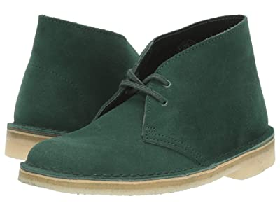 Clarks Desert Boot (Forest Green Suede) Women