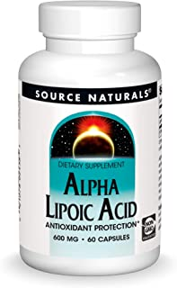Source Naturals Alpha Lipoic Acid 600 mg Supports Healthy Sugar Metabolism, Liver Function & Energy Generation - 60 Capsules