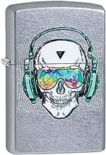 Custom Personalized Skull Headphone Design Zippo Street Chrome Windproof Lighter Free Engraving #29855