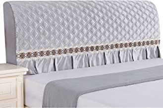 Headboard Cover Protector Bed Headboard Slipcover Cute Bedroom Decoration Dustproof Headboards Cover (Color : Grey, Size :...