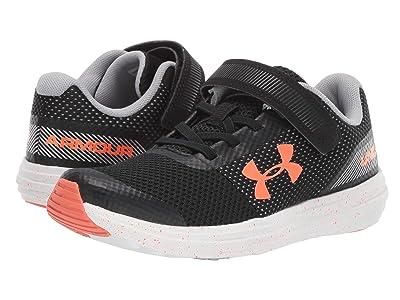 Under Armour Kids UA BPS Surge Running AC (Little Kid) (Black/White/Orange Glitch) Boys Shoes