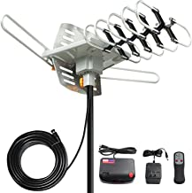 TV Antenna, Vansky Outdoor Amplified Digital HDTV Antenna 150 Mile 360 Rotate Support 2TVs HD UHF/VHF Channel