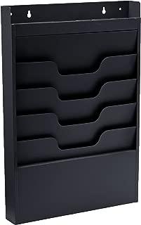Buddy Products Task File Organizer Rack, Steel, 4 Pockets, 2 x 19.75 x 13.5 Inches, Black (0841-4)