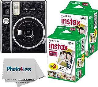 Fujifilm Instax Mini 40 Instant Camera + Fujifilm Instax Mini Twin Pack Instant Film x2 + Cloth