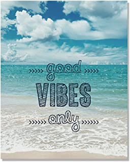 Wayfare Art Good Vibes Only Canvas Prints Artwork Wall Art Poster for Home Office Living Room Decorations 8 x 10 inch