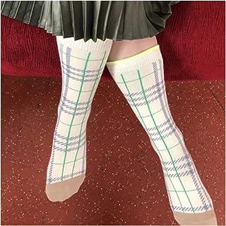 WanXingY, 1 par Vintage Plaid Calcas Calcas for niños Niñas Niños Niños Color Color Class Classic Grid en Calcetines de Tubos Chic Baby Baby Snowdler 1-9Y (Color : 003, Size : 7Y 9Y)
