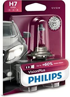 Philips H7 VisionPlus Upgrade Headlight Bulb with up to 60% More Vision