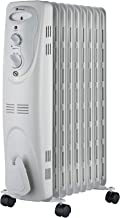 Haverland NYEC-9   Radiador de aceite Portátil   800 / 1200 / 2000 W   3 Potencias   Termostato Regulable   Con Ruedas y Asas