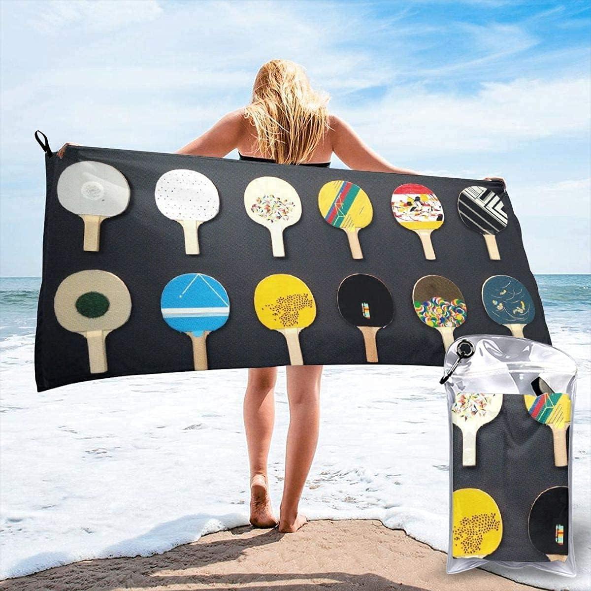 Toalla de Playa de Microfibra de Ping Pong para Tenis de Mesa, Toalla súper Absorbente de Secado rápido, portátil para Llevar, para Gimnasio, natación, Yoga y Camping