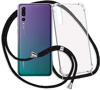 mtb more energy® Collar Smartphone para Huawei P20 Pro (6.1'') - Negro - Funda Protectora ponible - Carcasa Anti Shock con Cuerda