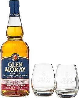 Glen Moray Elgin Classic Sherry Cask Single Malt Scotch Whisky mit 2 Gläsern 1 x 0.7 l
