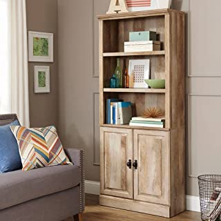 Better Homes and Gardens Crossmill Bookcase with Doors, 3 adjustable shelves 2 doors (Weathered)