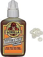 Gorilla Original Gorilla Glue, 2 oz, Brown with 10 Disposable Latex Finger Cots Rubber Fingertips