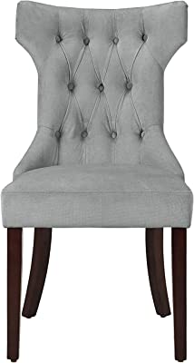 Dorel Living Clairborne Upholstered Dining Chair Set Of 2 Gray Chairs