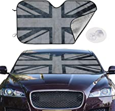 Union Jack Car Sunshade for Maximum UV Protection and Heat Reflector,Keeping Vehicle Cool,Sunshade Against Sunlight¨C Universal Fit.