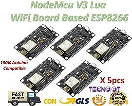 TECNOIOT 5pcs NodeMcu V3 Lua WeMos WiFi Wireless Module CH340 Development Board ESP8266 ESP12E
