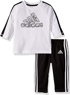 adidas Baby Boys Long Sleeve Sport Top and Jogger Pant Set