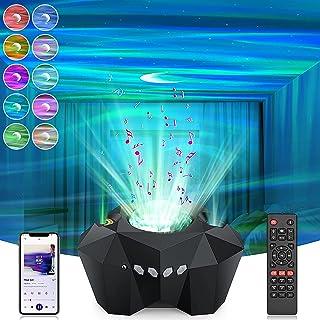 【最新北極光】北極光 スタープロジェクターライト LED 星空プロジェクターライト 家庭用 プラネタリウム Bluetooth5.0 リモコン式 21種点灯モード ベッドサイドランプ オーロラ 音声制御 輝度/音量調整可 LED 投影ランプ 星...