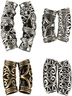 YmHPRIDE - Set di 8 perline per capelli con perline per treccia, accessori per la decorazione dei capelli, 4 stili, fai da...