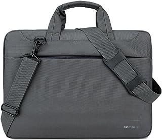 JJJJD Men Women Laptop Shoulder Bag Business Notebook PC Messenger Bag Work Briefcase Sleeve Case Crossbody Bag for Laptop Ultrabook Computer (Color : Gray, Size : 14inch)