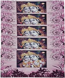 Premium Shagun Gift Envelope (Pack of 5) Money Holder Card Fancy Packet for Christmas Diwali Easter Birthday Wedding Anniversary Designer Invitation Envelopes (Radha Krishna :2)