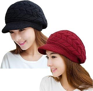 کلاه بافتنی زنانه و گرم YSense 2 کلاه زمستانه Slouchy Beanie با روکش