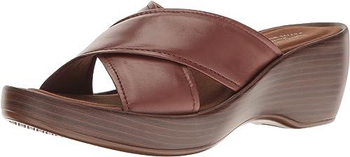 Eastland Candice Cuir Cuir Cuir Sandales Compensés 065