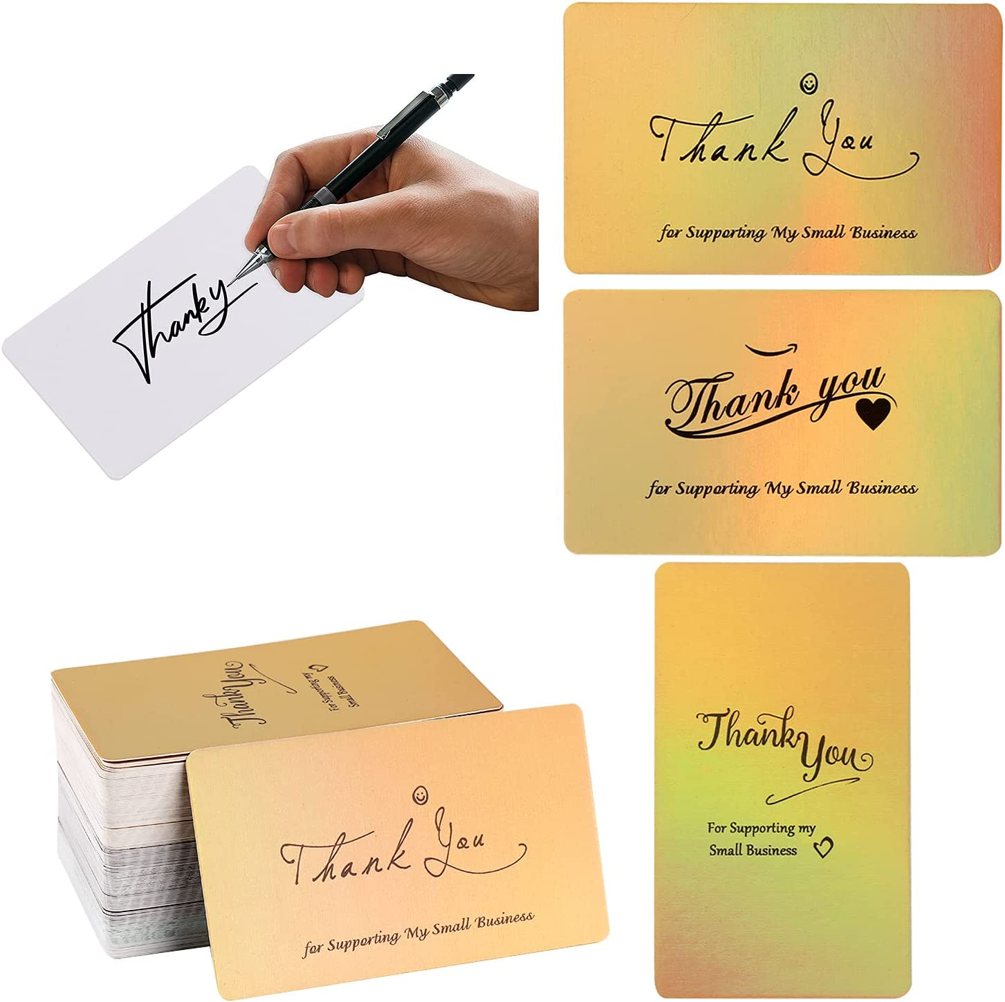 """Directly managed store 120 Thank You Cards Small 4 Differe Ultra-Cheap Deals Business 2"""" -3.5""""x"""