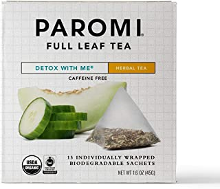 Sponsored Ad - Paromi Tea Organic Detox with Me Caffeine-Free Rooibos Herbal Tea, Non-GMO, 15 Pyramid Tea Bags