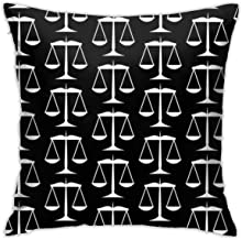 Black Scales of Justice On White Home Cover Pillowcase Sofa Bed Decoration Cushion Cover | Fun Love Gift for Valentine Cou...