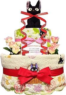 おむつケーキ [ 女の子/ジジ : 魔女の宅急便 / 2段 ] パンパース S22枚 (出産祝い に Sサイズ)3001 ダイパーケーキ 赤ちゃん ベビーシャワー ギフト 誕生日プレゼント
