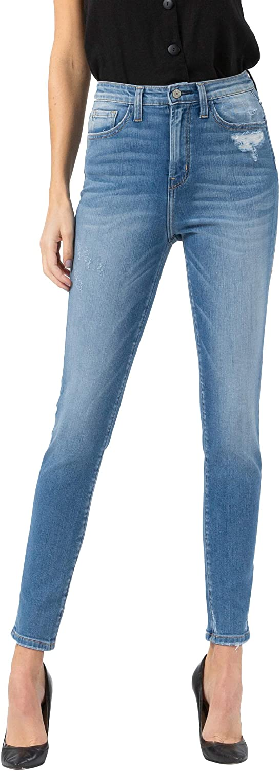 VERVET New Orleans Mall by Flying Monkey Women's Super Rise High Skinny Jea Ankle Tampa Mall