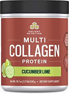 Ancient Nutrition Multi Collagen Protein Powder, Cucumber Lime Flavor - 45 Servings