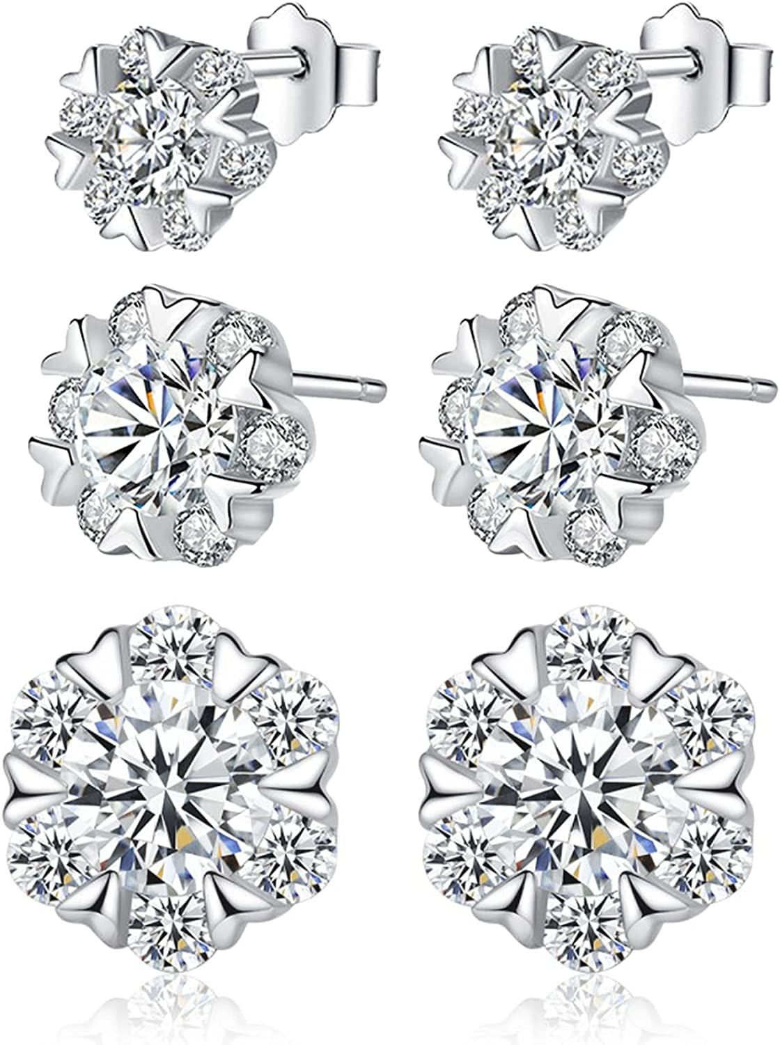 Harberd Snowflake Pendant Necklace Sterling Cubic Silver Zirconi Dealing full price Max 87% OFF reduction