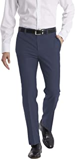 Calvin Klein Men's Modern Fit Performance Flat Front Dress Pant, Navy, 36W x 30L