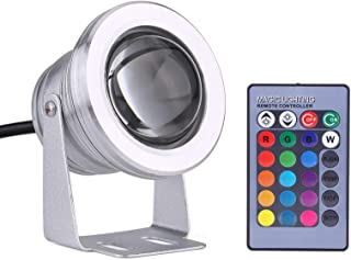 LED Spotlight, 10W 12V RGB LED Spot Light Easy to Use Rainproof Lamp with Remote Control