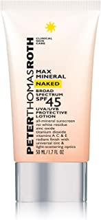 Max Mineral Naked Broad Spectrum SPF 45 UVA/UVB Protective Lotion, All-Mineral Sunscreen with a Universal Tint