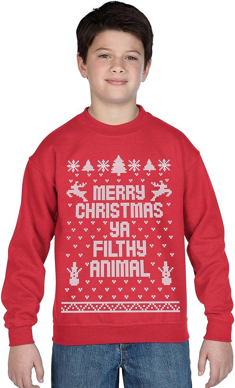 Funny Christmas T-shirt Youth Merry Christmas ya Filthy Animal