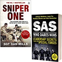 Sniper One By Sgt. Dan Mills & SAS Who Dares Wins Leadership Secrets from the Special Forces By Anthony Middleton 2 Books ...