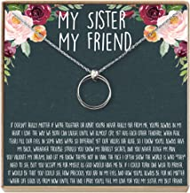 Sisters Necklace: Sister Gift, Gift for Sister, Sister Birthday Gift, Giggles, Secrets, 2 Linked Circles