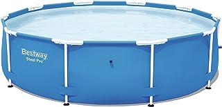 bestway pool 305 Bestway Steel Pro Frame Pool ohne Pumpe, rund 305x76cm Stahlrahmenpool, blau